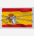 flag kingdom spain vector image