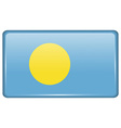 Flags Palau in the form of a magnet on vector image vector image