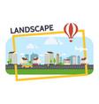 flat city landscape composition vector image