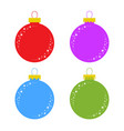 flat colored set of isolated christmas toys vector image vector image