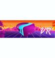futuristic horizontal banner virtual reality vector image