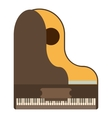 Grand piano icon flat style vector image vector image