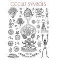 graphic set with esoteric symbols vector image vector image