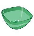 Green empty plastic salad bowl vector image vector image
