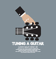 Hand Tuning a Guitar vector image vector image