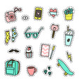 hipster pack set objects vector image vector image