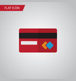 isolated credit card flat icon payment vector image