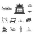 isolated object traditional and tourism symbol vector image