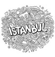 istanbul hand drawn cartoon doodles vector image