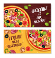 Italian Pizza Horizontal Banners vector image vector image