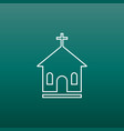 line church sanctuary icon simple flat pictogram vector image