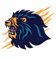 lion head roaring logo icon mascot design vector image vector image