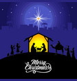 mary and joseph with bajesus vector image