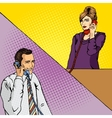 people talk on phone comic book vector image vector image