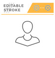 person editable stroke line icon vector image