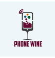 phone wine concept vector image