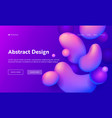 purple abstract geometric drop shape landing page vector image vector image