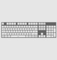 realistic 3d computer keyboard laptop for your vector image