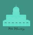 rila monastery in bulgaria flat cartoon style vector image vector image