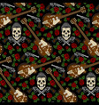 rockabilly seamless pattern vector image