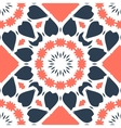 Seamless tile with stylized rosette on orange vector image vector image