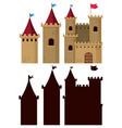 set of castle building vector image vector image