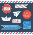 Set of delivery badges and labels Bluewhite and vector image