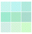 set of mint backgrounds with small gold stars vector image