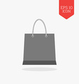 Shopping bag icon Flat design gray color symbol vector image vector image