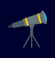 space telescope icon flat style vector image