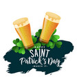 st patricks day background with beer glasses vector image vector image