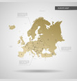 stylized europe map vector image