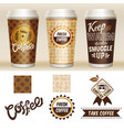 take away coffee packaging template set vector image vector image