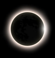 total solar eclipse eclipse of the sun vector image vector image