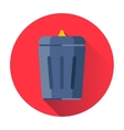 trash can icon vector image vector image