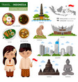 travel to indonesia bali vector image