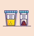 urine and fecal analysis vector image vector image