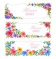 Watercolor Vintage floral frame vector image vector image