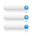 white long buttons with blue arrows menu vector image vector image