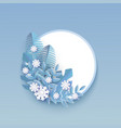 winter banner with blank vector image