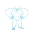 yeti angry bigfoot evil abominable snowman vector image