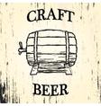 Craft beer barrel vector image