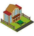 3d design for big building with garden vector image vector image
