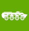 army battle tank icon green vector image vector image