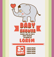 Baby shower card design vector image vector image