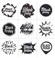 big sale stickers set black friday special offer vector image