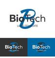 biotech logo letter b logo logo template vector image vector image
