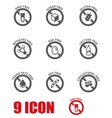 Black food dietary labels icon set