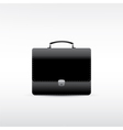 black leather briefcase vector image