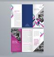 brochure design 683 vector image vector image